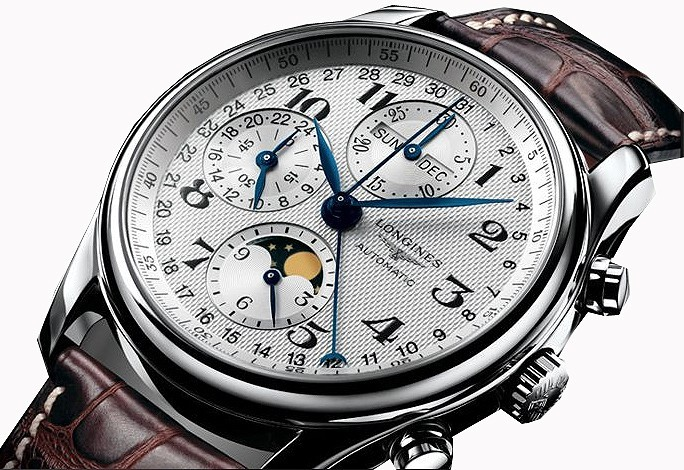 bon ajustement 4e237 d53f8 Montre Longines Master collection Phase de lune & Chronographe régulateur  44 mm