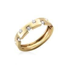 Bague TOM G CESAME DIAMANTS 1 rang de diamants.