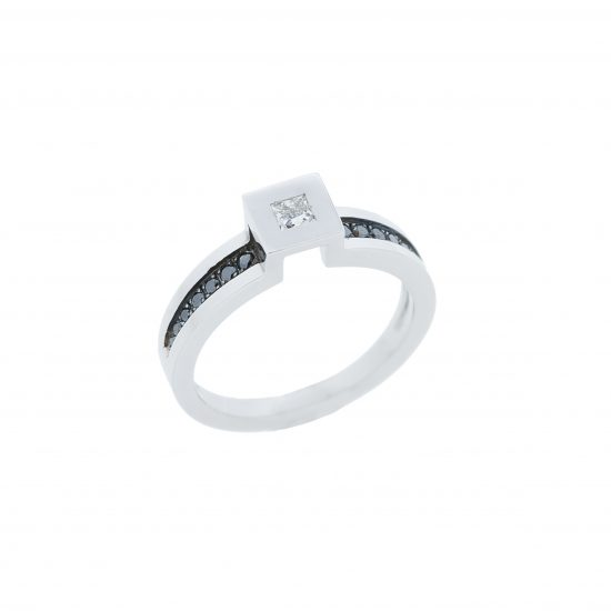 Bague Multi anneaux de TOM G diamants & or blanc