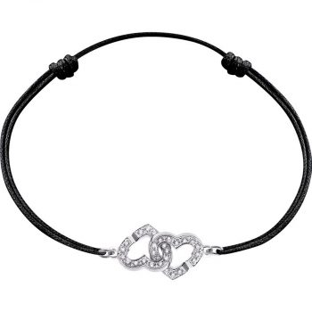 Argent Sterling 925 Coeur Rouge Corde Bracelet//Bracelet rojo de corazon para Amor #2
