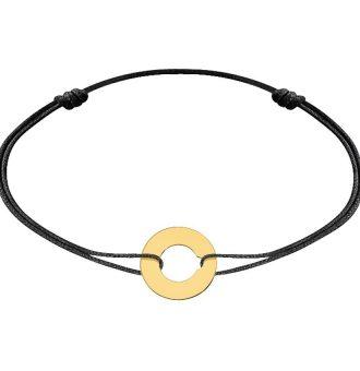 Bracelet sur cordon Cibles dinh van 12 mm- or jaune