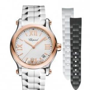 Montre Chopard Happy Sport 36 mm Lunette or rose Quartz bracelets interchangeables