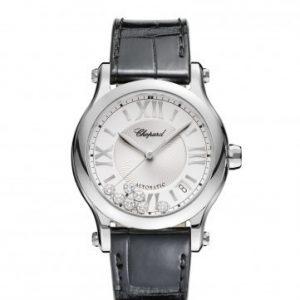 Montre Chopard Happy Sport 36 mm Automatique bracelet croco