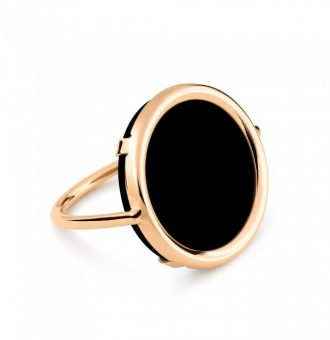 Bague Ginette NY Disc Ring Black Onyx