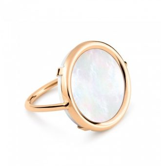 Bague Ginette NY Disc Ring Mother Of Pearl