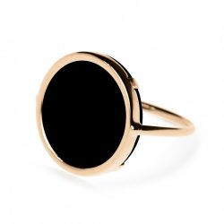 Bague Ginette NY Disc Ring Black Onyx