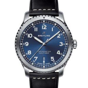 Montre Breitling Navitimer 8 Automatic 41 cadran bleu cuir noir