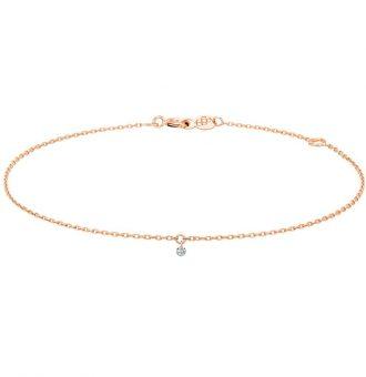 Bracelet La Brune & La Blonde 360° Diamant 0.07 carat or rose