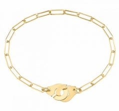 Bracelet Dinh Van Menottes R10 or jaune sur chaîne