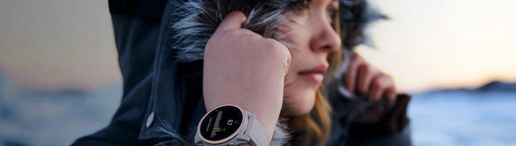 montre garmin fenix 6S argent bracelet blanc